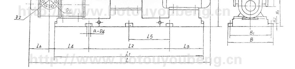 lc型高粘度罗茨油泵安装尺寸图
